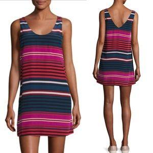 Joie Silk Multi Color Striped Tent Tunic Dress